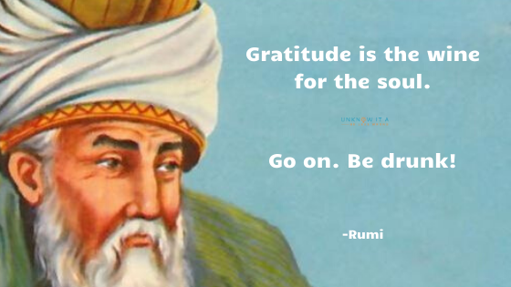 Image Result for Rumi Quotes. Gratitude is Important. Stop chasing success and happiness.