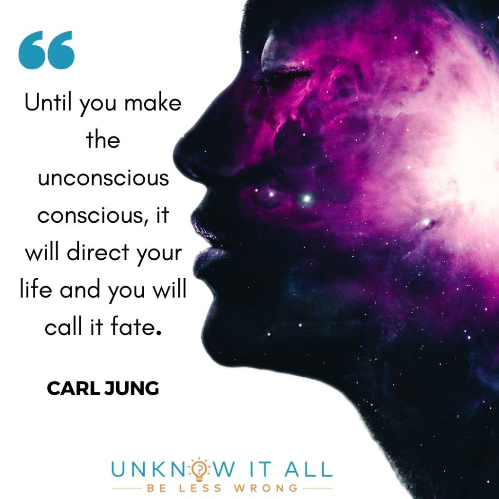 """Emotional Intelligence, Self Honesty and Self Awareness quote by Carl Jung """"Until you make the unconscious conscious, it will direct your life and you will call it fate."""""""